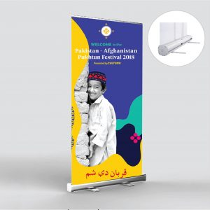 Standee cuốn đế to cao cấp