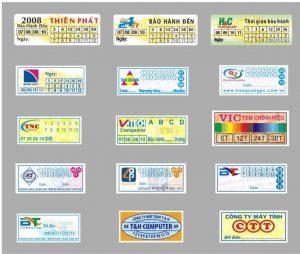 Gia công in tem bảo hành giá rẻ