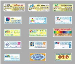 Nơi in tem bảo hành giá rẻ tại Hồ Chí Minh
